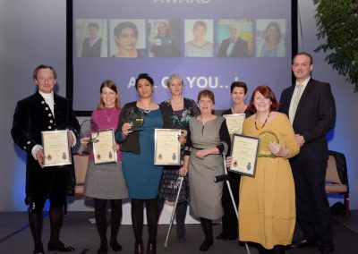 Six winners of the Inspiring Leader Award