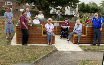 New 'Friendly Bench' is opened in Ipswich to help combat loneliness and isolation