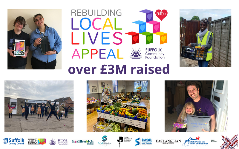 Rebuilding Local Lives Appeal delivers £3M to Suffolk Coronavirus Community Fund